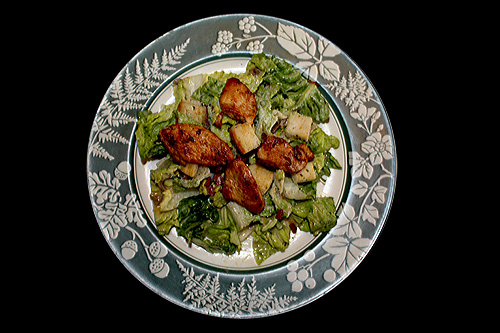 Ceasar style salad with chicken