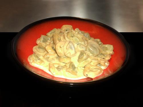 Tortellini with Saffron Sauce